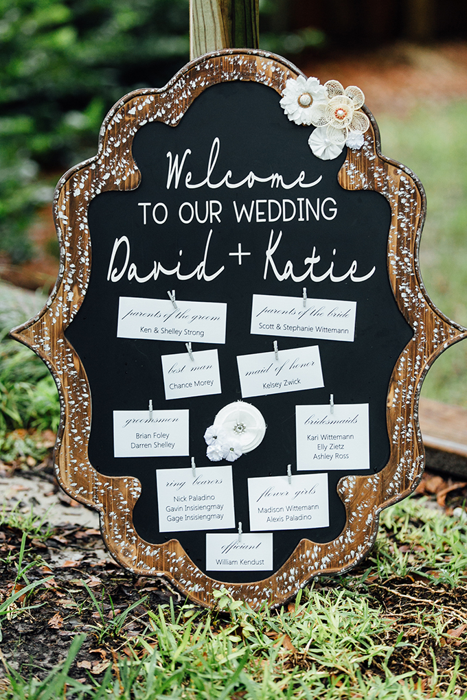 program signage | Jessica Connery Photography | Glamour & Grace