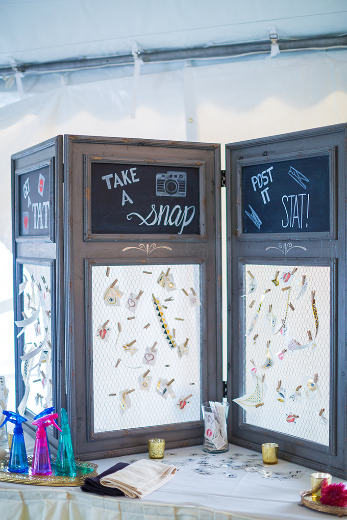 temporary tattoo bar | Tami & Ryan Photography | Glamour & Grace