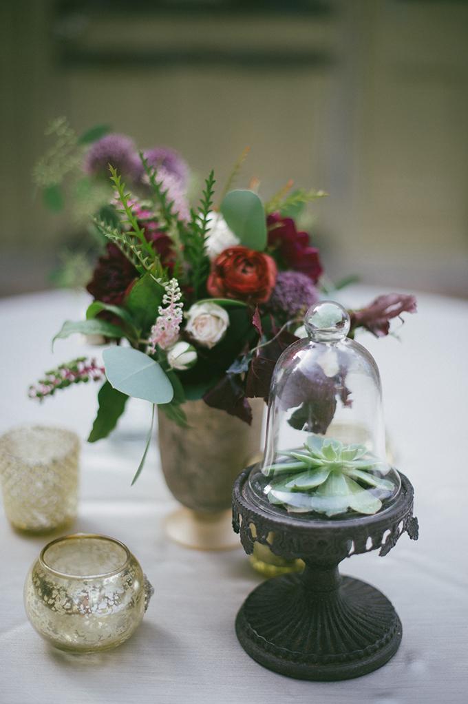 eclectic centerpieces | Lauren Carroll Photography | Glamour & Grace