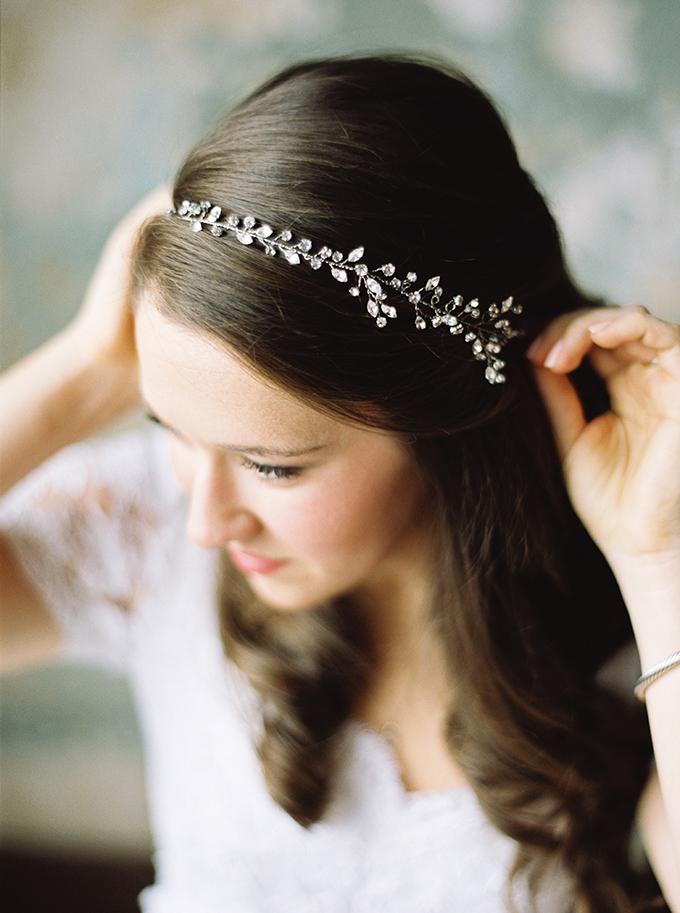 crystal vine headpiece | JoPhoto | Glamour & Grace