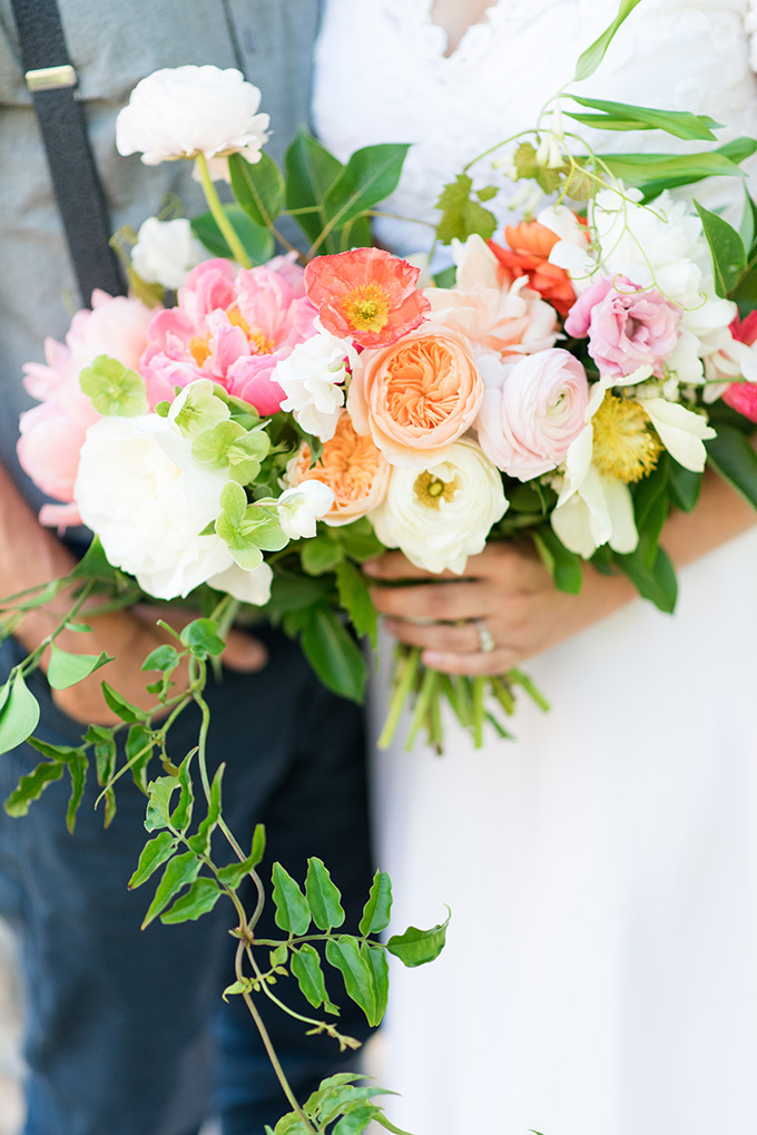 colorful bouquet | Lori Lynn Photography | Glamour & Grace