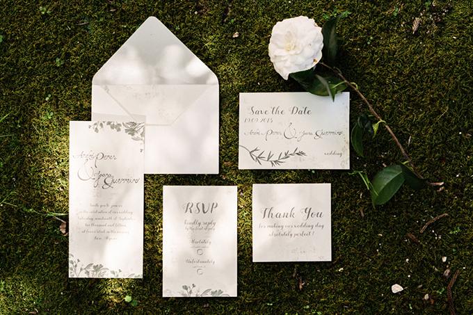 romantic greenery invitation   Passionate Wedding Photography   Glamour & Grace