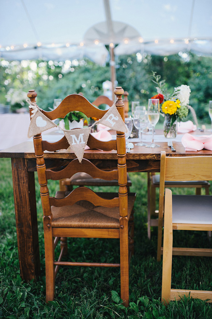 handmade summer backyard wedding | Ayres Photography | Glamour & Grace