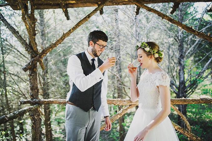 organic vintage wedding | Ariel Renae Photo | Glamour & Grace
