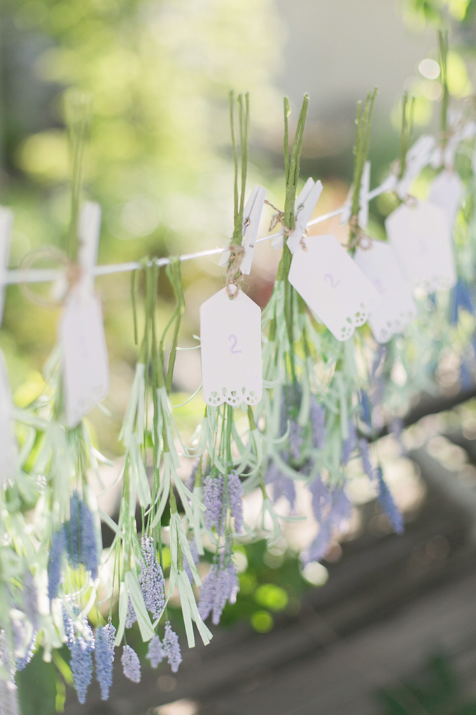 lavender escort cards | Carrie Vines Photography | Glamour & Grace