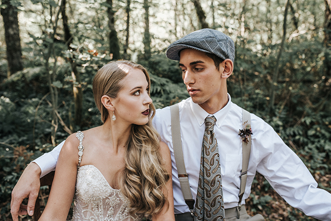 autumn 1930's vintage wedding inspiration | Mossfloor Photography | Glamour & Grace