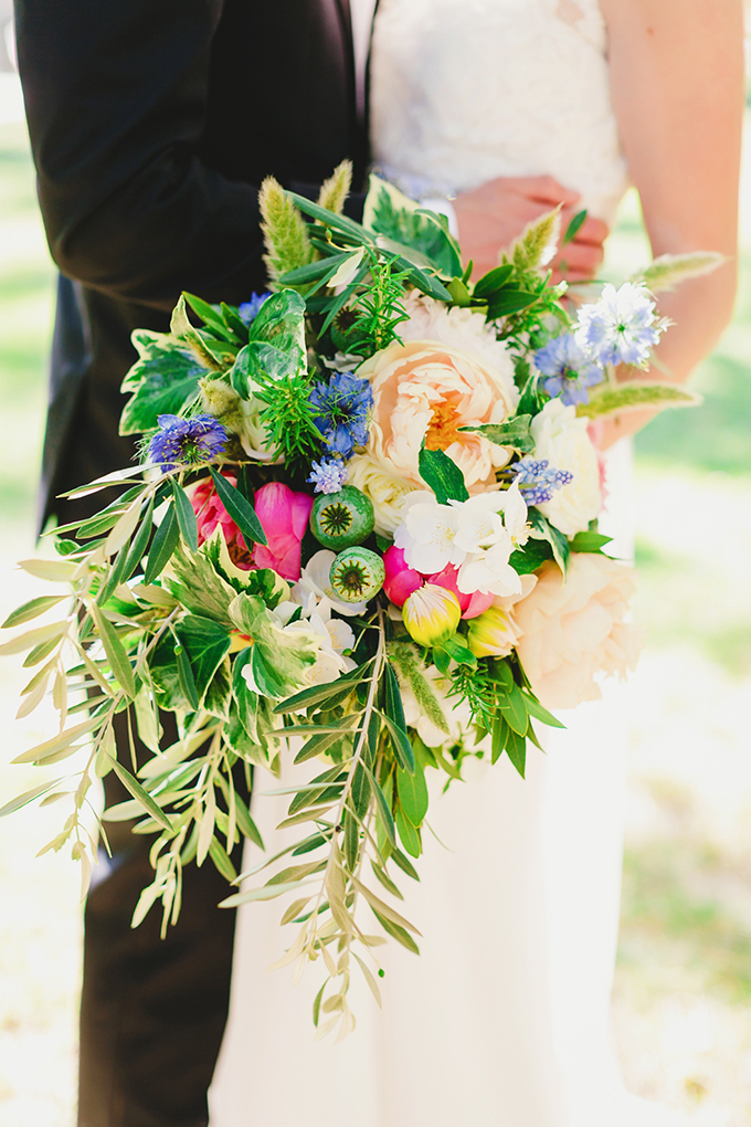 colorful bouquet | Milou & Olin Photography on Glamour & Grace