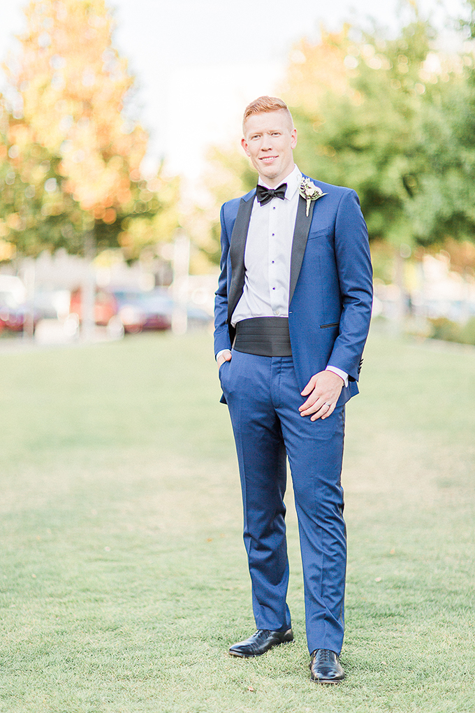 blue tux groom | Fleckography Co. | Glamour & Grace