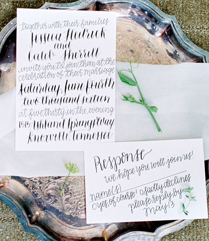 calligraphy invitaion | Michelle Lea Photographie | Glamour & Grace