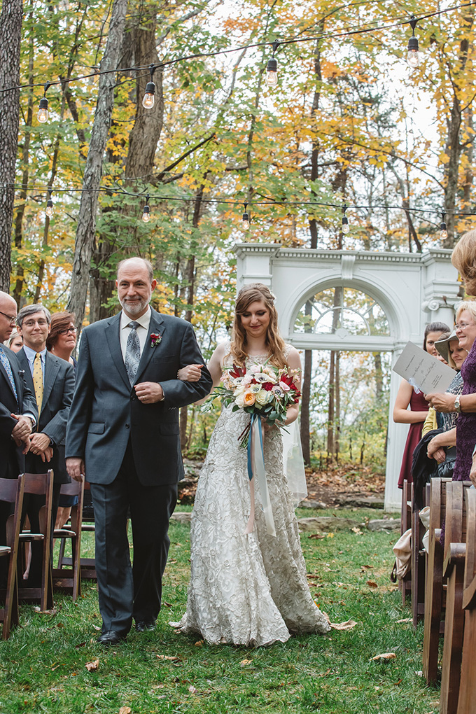 vintage fall barn wedding | Parker Young | Glamour & Grace-07