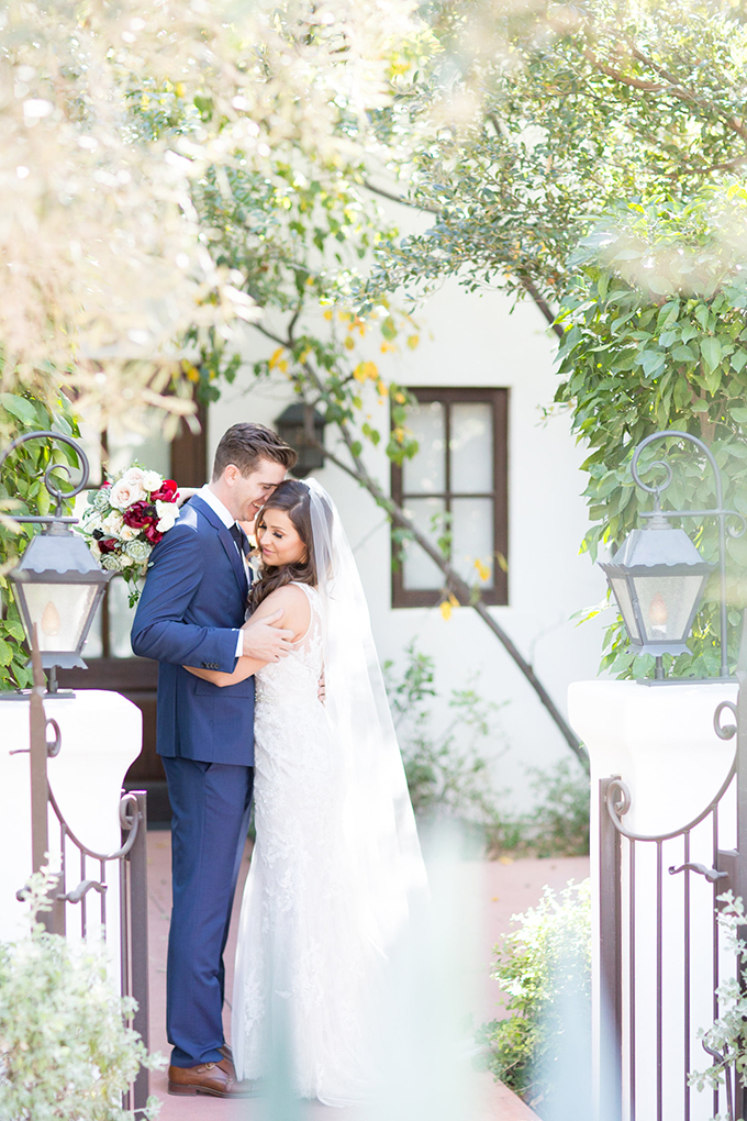elegant burgundy desert wedding | Amy & Jordan | Glamour & Grace