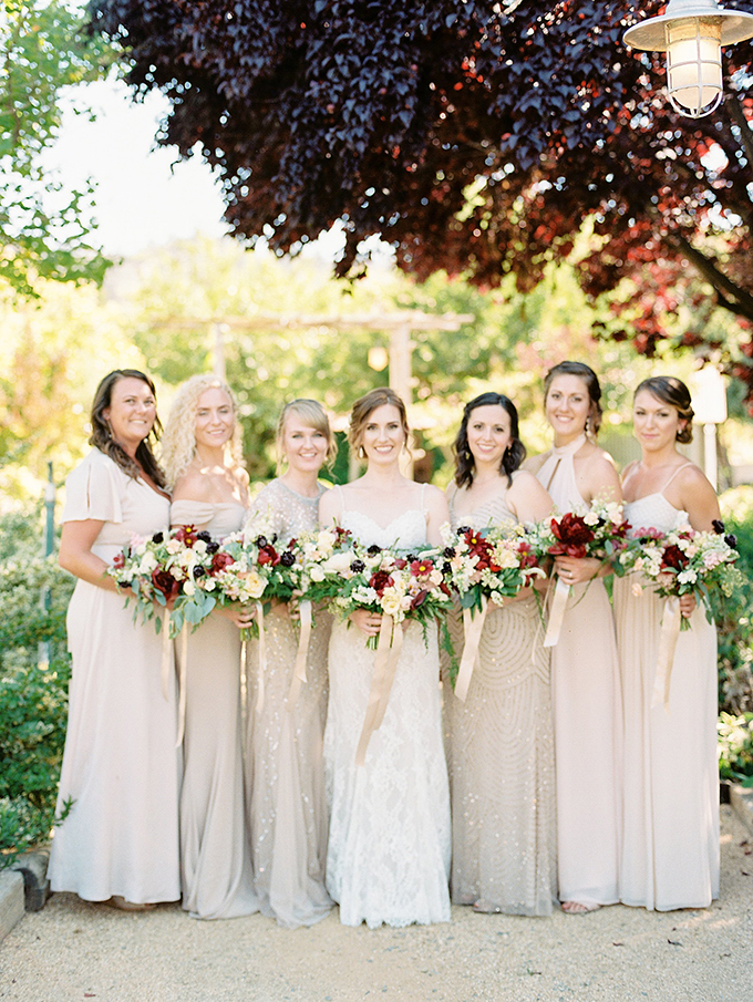 ivory and gold #bridesmaids | Sarah Maren Photography | Glamour & Grace