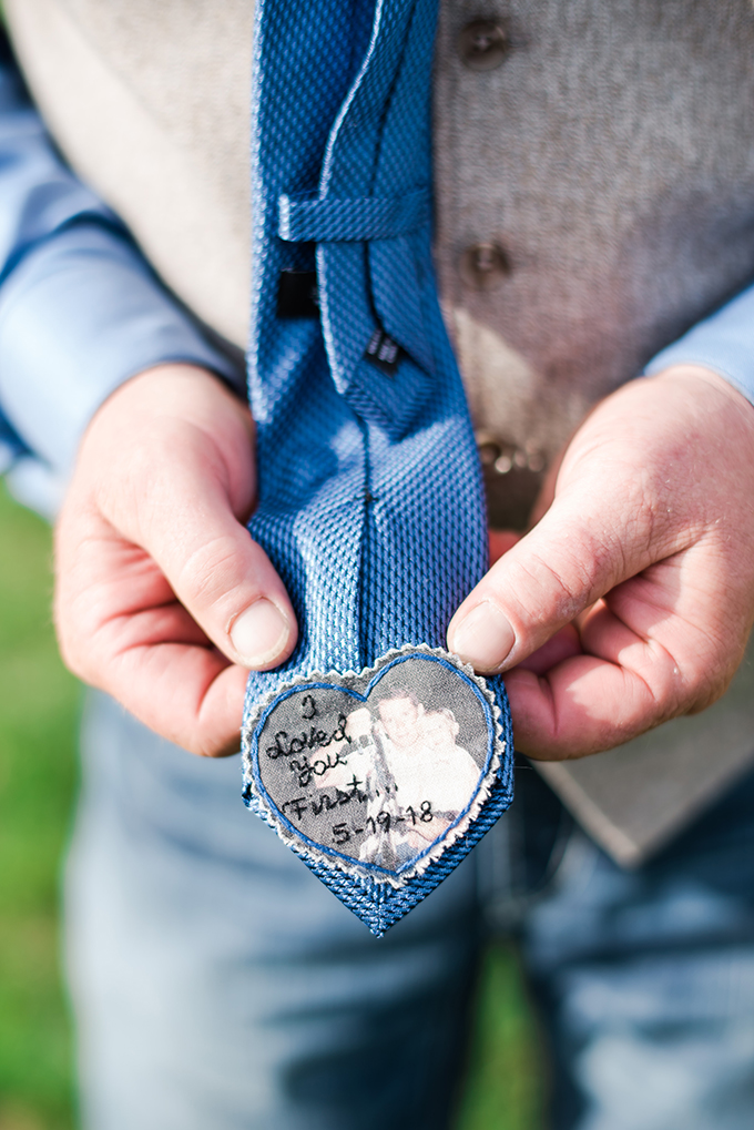 father of the bride tie patch | Misty C Photography | Glamour & Grace