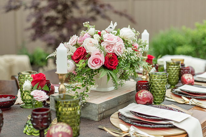 apple red fall wedding inspiration | Meghan McCarthy Photography | Glamour & Grace