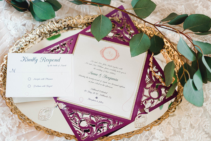 romantic purple cathedral wedding ideas | Joy Cruz Studio | Glamour & Grace