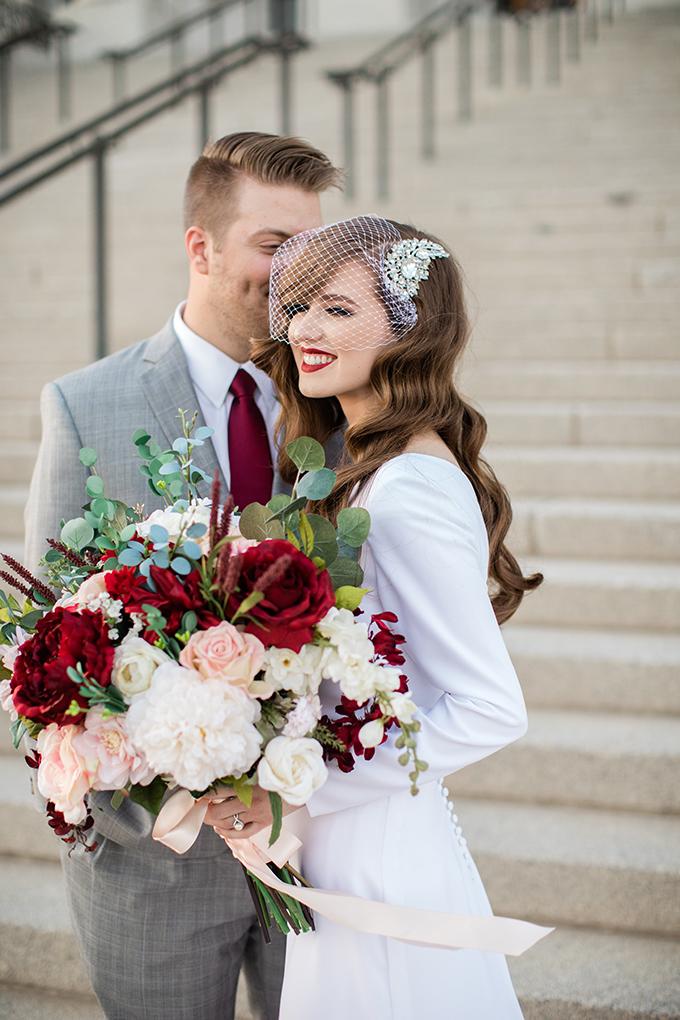 vintage glam wedding portraits | Whitney Hunt Photography | Glamour & Grace
