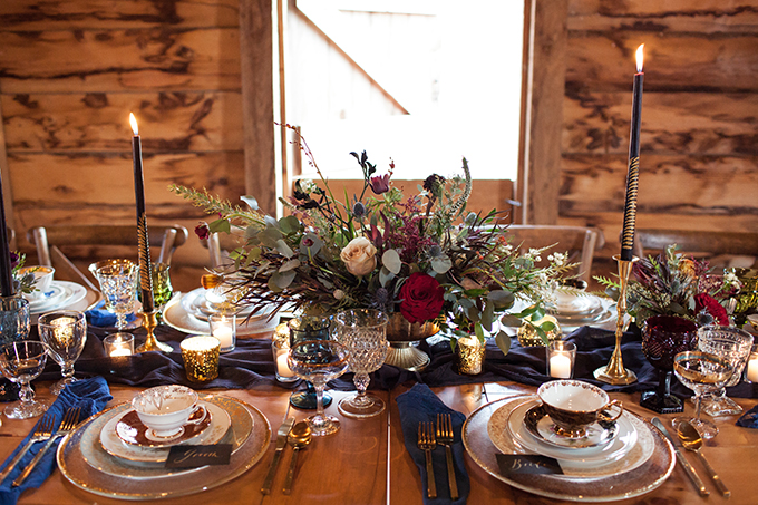 jewel tone fall wedding inspiration | White Poppy Weddings | Glamour & Grace