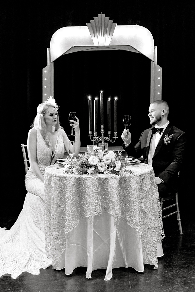 roaring 20s wedding inspiration | Lindsay Lazare Photography | Glamour & Grace
