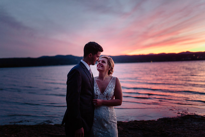 DIY lakeside pastel wedding | The Light and Color Wedding Photography | Glamour & Grace