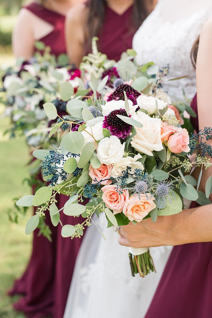 burgundy Texas ranch wedding | Eureka Photography | Glamour & Grace
