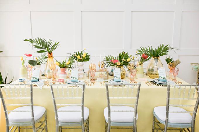 tropical retro wedding ideas   Breanna White   Glamour & Grace