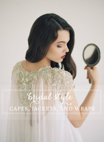 Bridal capes, jackets, and wraps