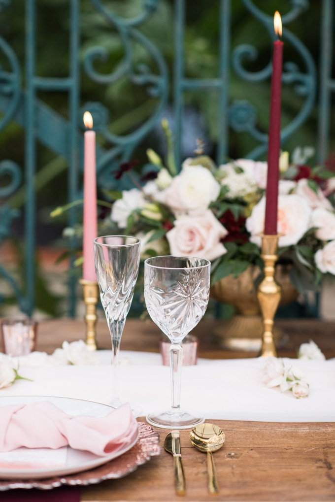 burgundy and blush greenhouse wedding ideas-Brooklyn D PhotographyGlamour & Grace