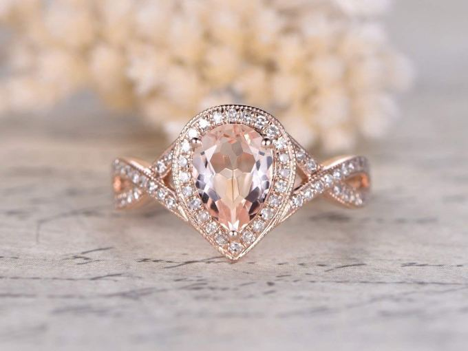 Pink Morganite Engagement Ring