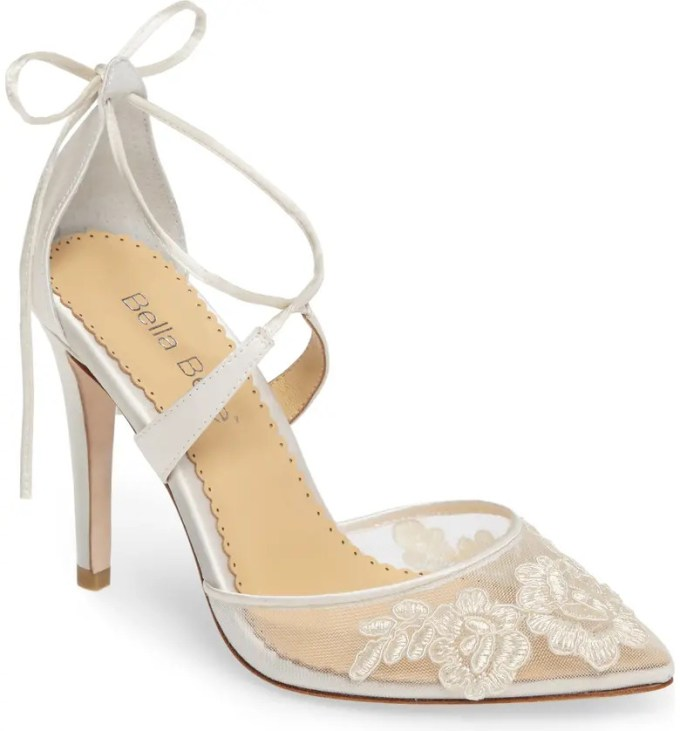 Bella Belle Illusion Lace Cross Strap Pump