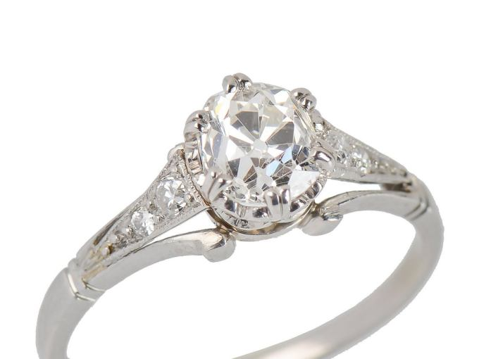 Edwardian Vintage Diamond Engagement Ring