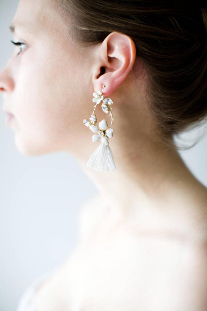 Tassel Bridal Earrings