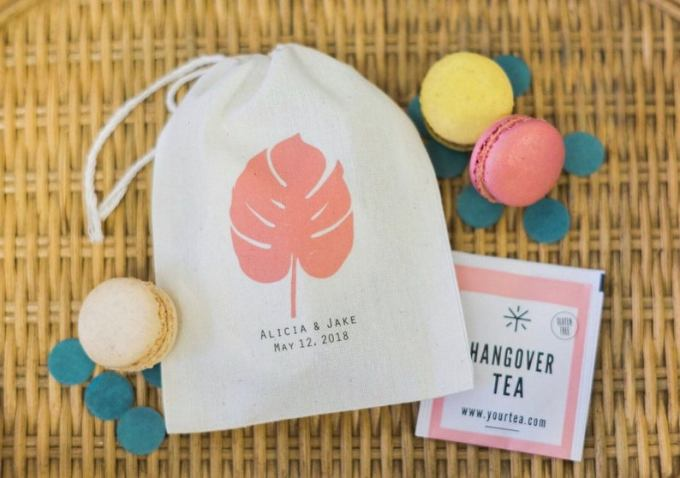 Tropical Wedding Favor Bags
