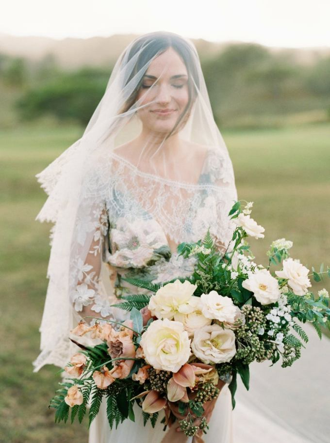 Lace Trim Cathedral Veil