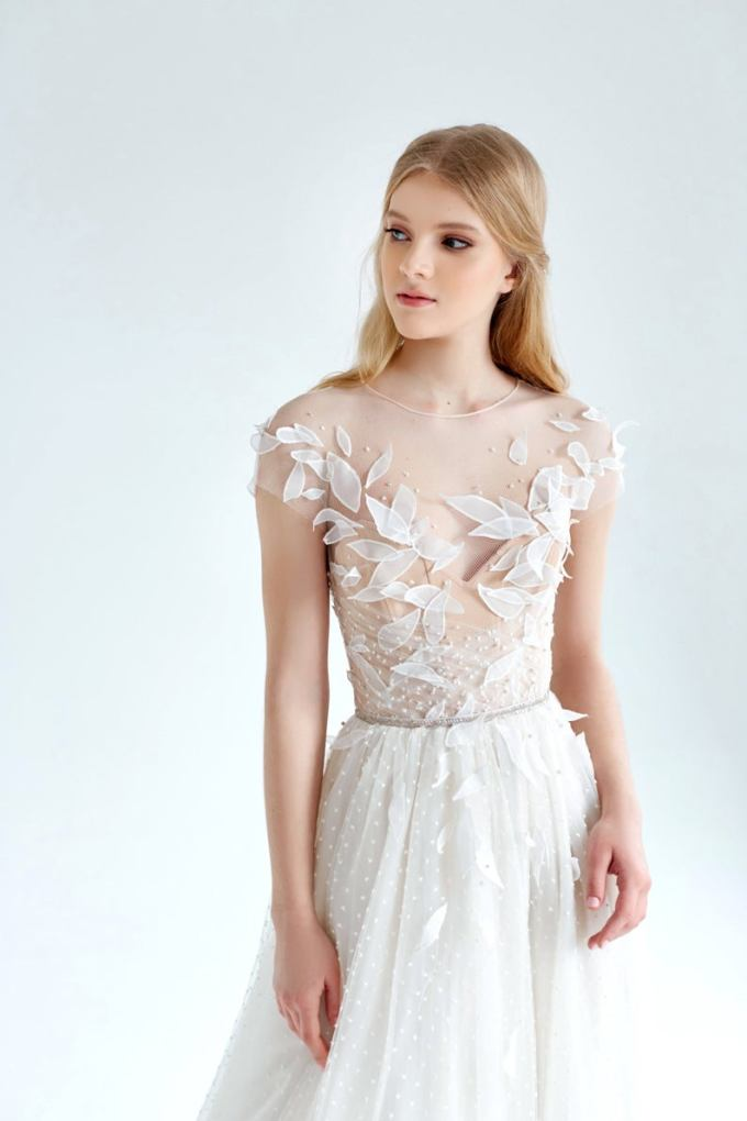 Dotted Tulle Wedding Dress