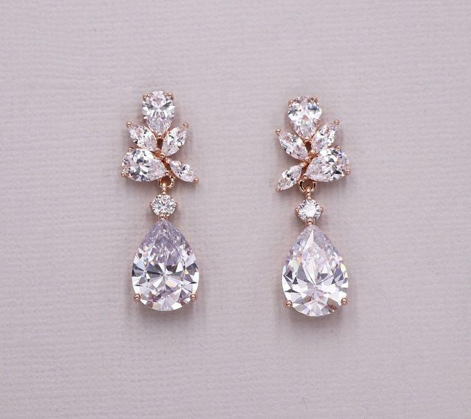 Teardrop Rose Gold Earrings