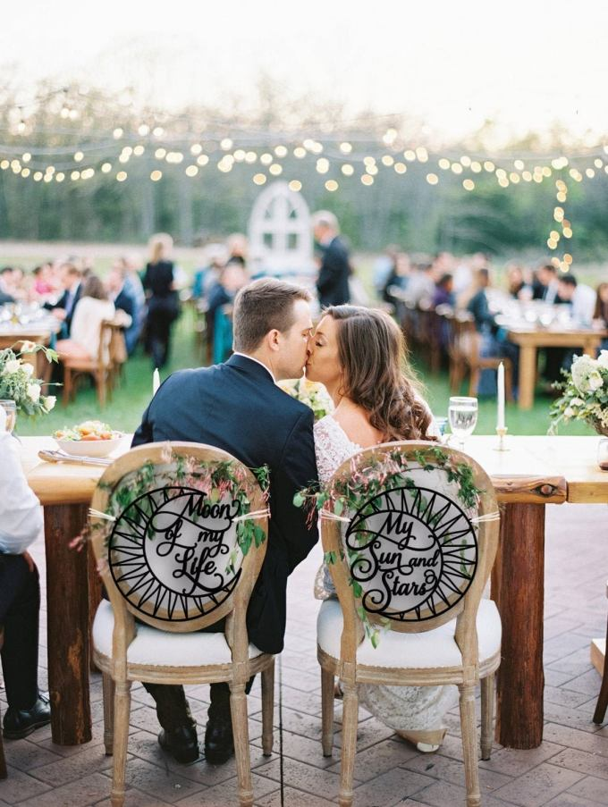 Moon and Stars Wedding Chair Signs