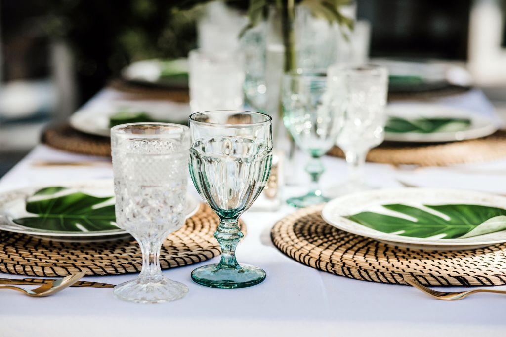 Green wedding tablescape