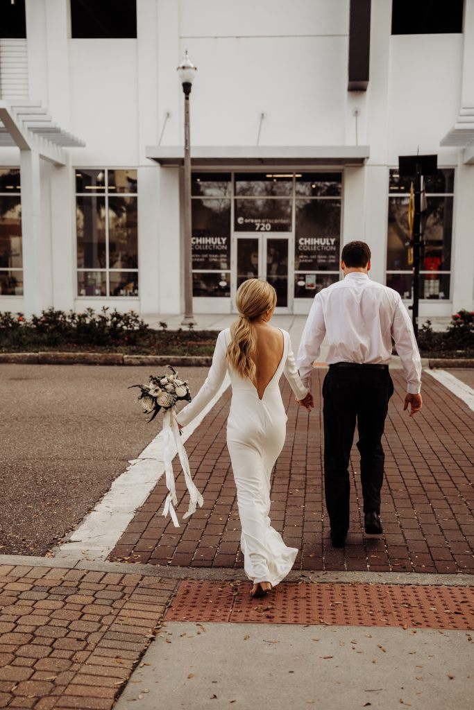 St. Pete Chihuly museum elopement styled wedding