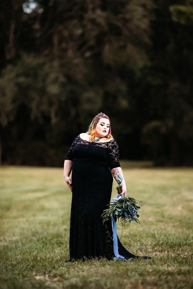 Black plus-size wedding dress