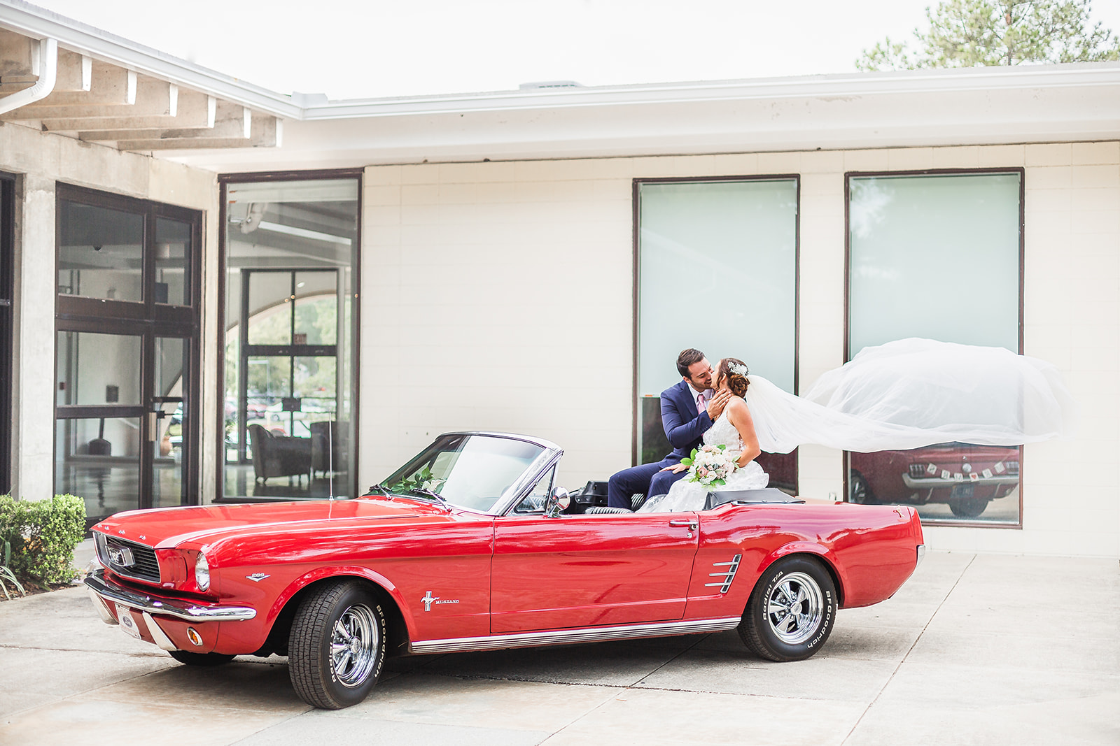 Jax 66 mustang styled wedding shoot Jacksonville Florida