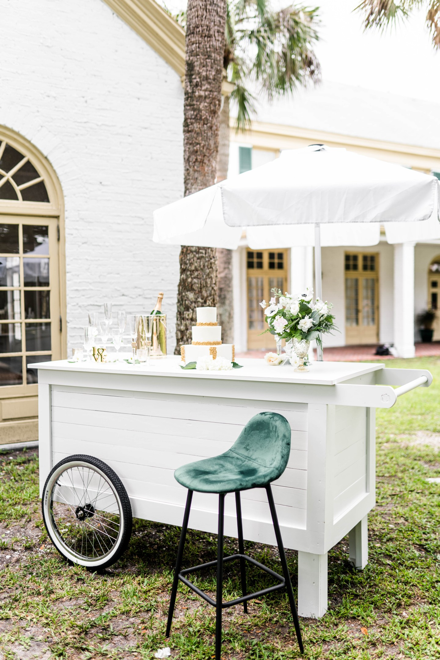 Styled Shoot Champagne Carts