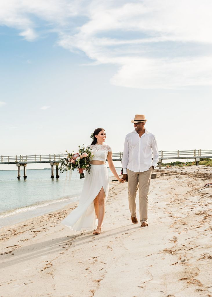 Styled Elopement Tampa Bay St Pete Clearwater Fort De soto