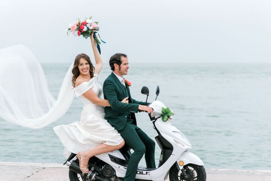 Moped Elopement styled elopement