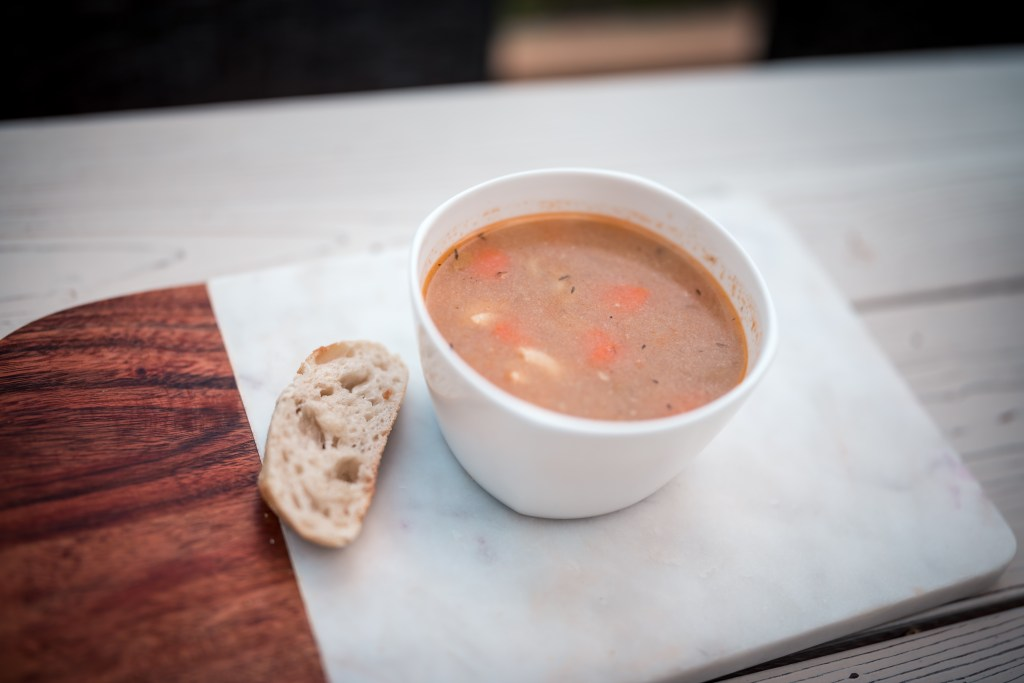 Soup from Fresh Prep to benefit families at Glamouraspirit home for dinner backyard picnic fundraiser