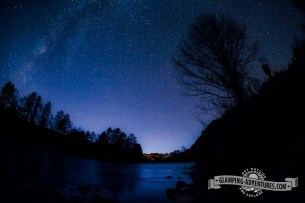 Nighttime over the Arkansas River. Ruby Mnt CG, Arkansas Rec. Area.