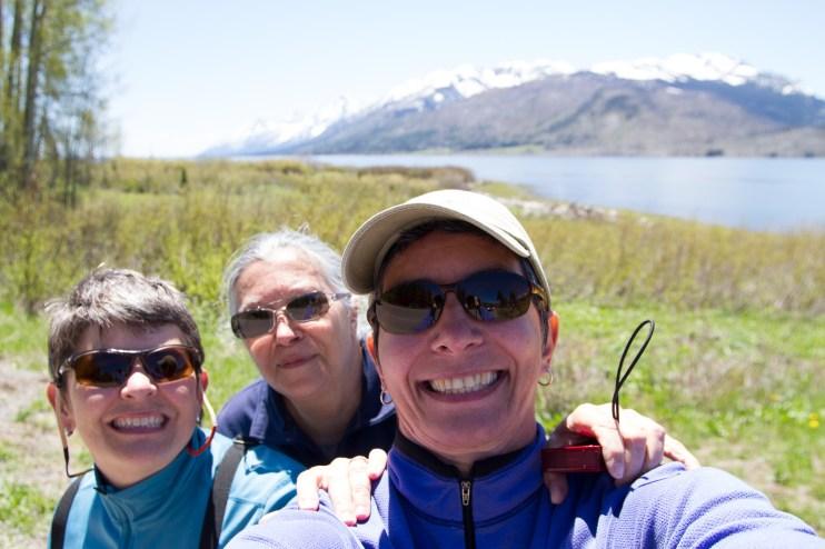 Sara, Lucia and Natasha, Grand Teton National Park, WY.