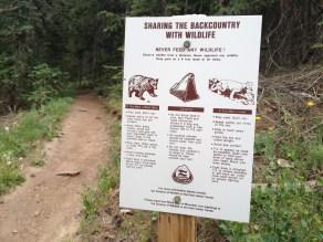 Wildlife warnings, Golden Gate State Park, CO.