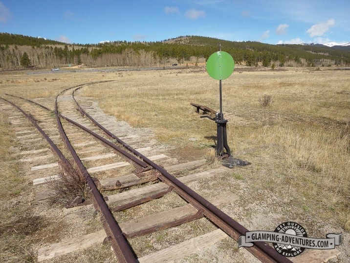 Old train tracks from 1879, beginning of the Colorado Trail. Kenosha Pass, CO