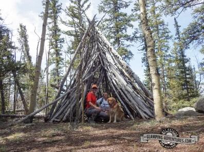 Big tepee, Colorado Trail. Kenosha Pass, CO