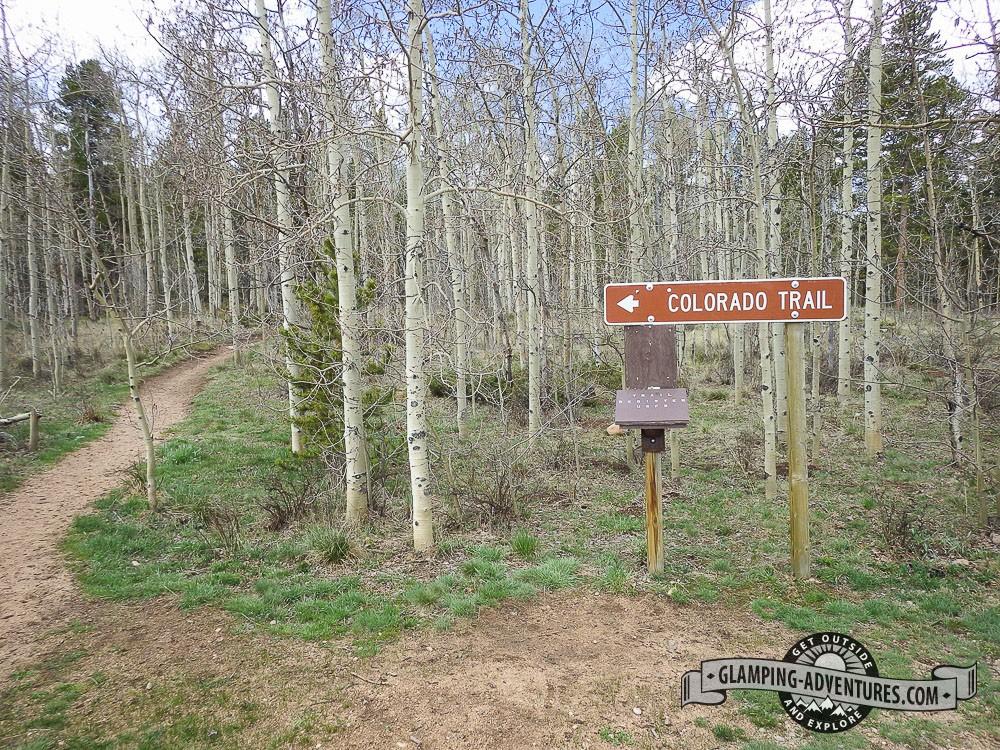 Beginning of section 6, Colorado Trail. Kenosha Pass, CO
